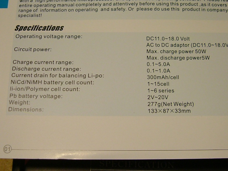 New Imax B6 Balance Charger.  SOLD Dscf0213