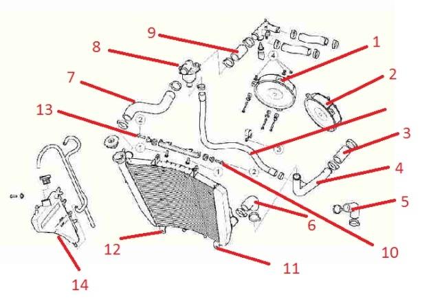 RSV4 Tecnica (Impianto di raffreddamento) Stock311