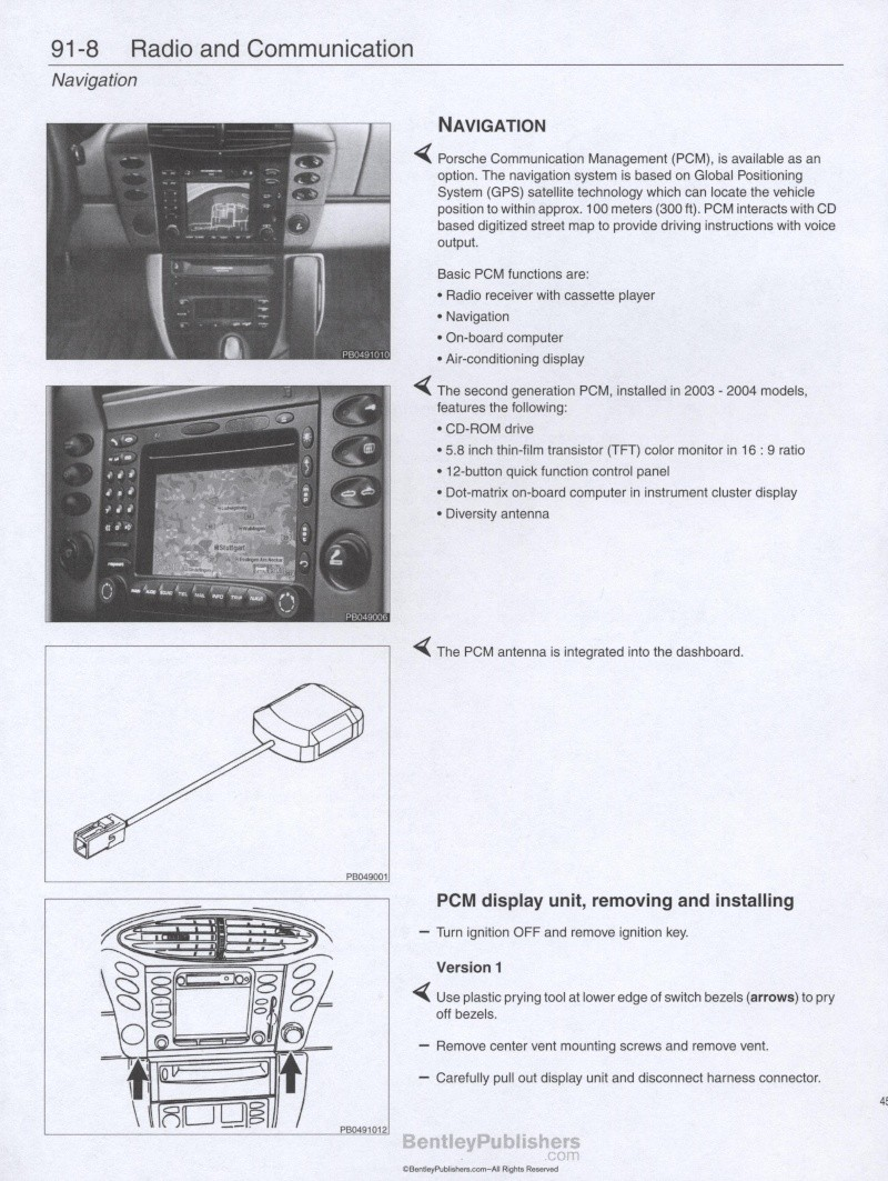 Manuel de Réparation Porsche Boxster et S de 1997 à 2004 [Dispo ICI] 45010