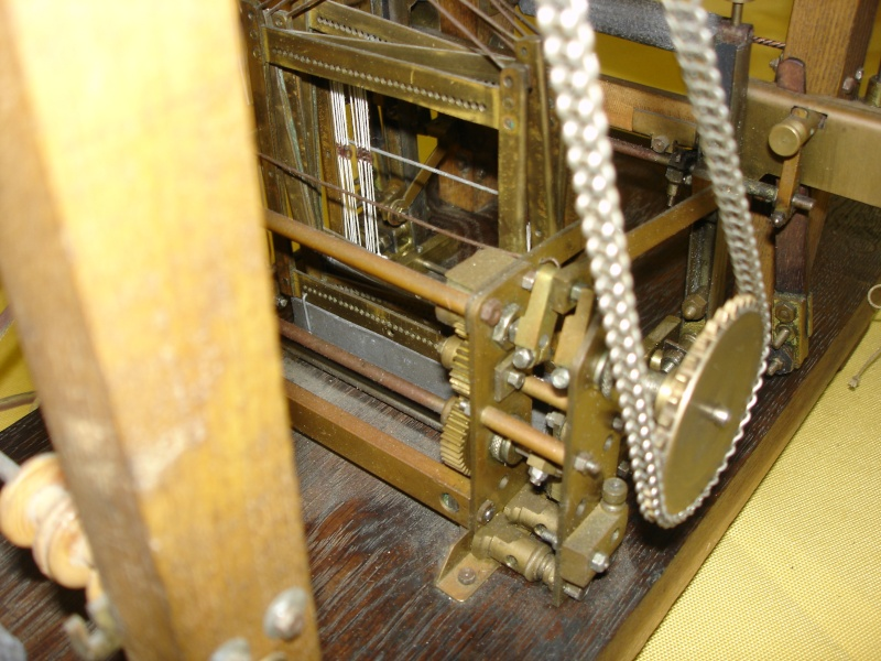 Modello di telaio tessile in legno originale fine'800-primi '900 Dsc00031