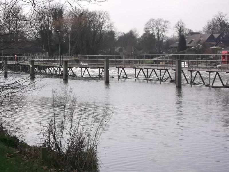 Rowers in lucky escape at Sunbury weir Dscf2110
