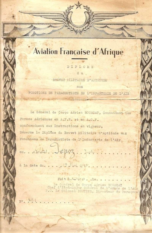 PEPOZ Justin brevet n°891 représenté par son petit-fils Olivier Brevet10
