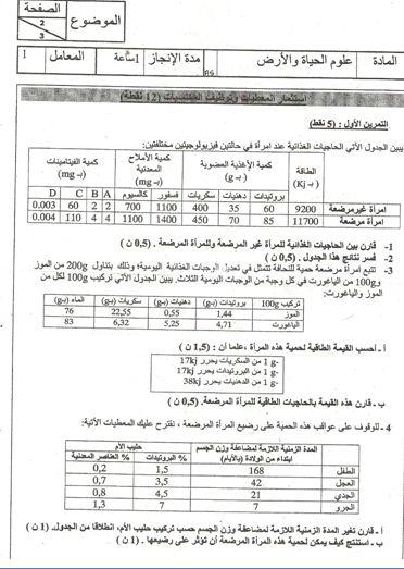 الامتحان الجهوي لنيل شهادة السلك الاعدادي في علوم الحياة والأرض (يونيو 2010) Captur10