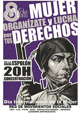 8 de Marzo: Mujer, organizate y lucha Cartel10