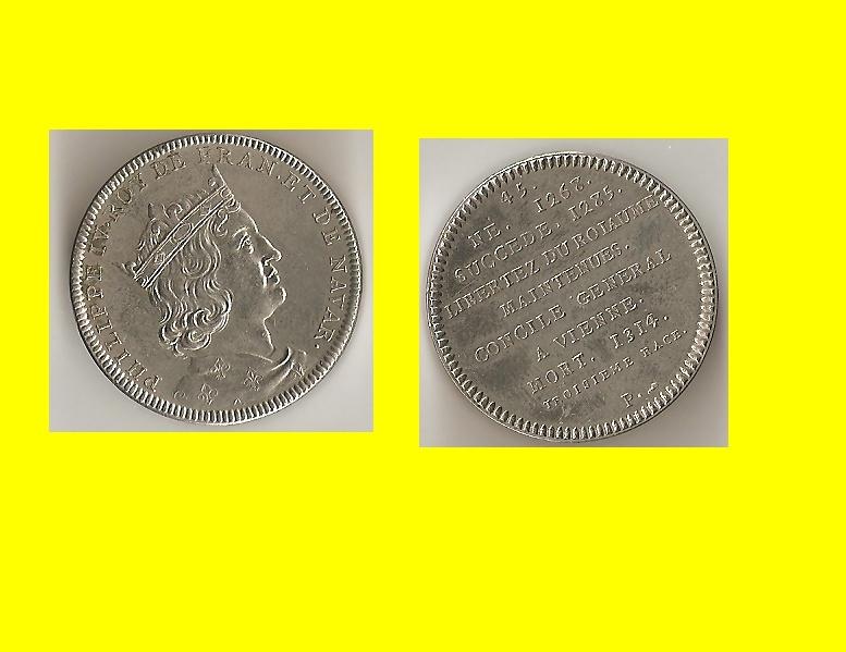 """Médaille de la série des """"Rois de France"""" Sans_t13"""