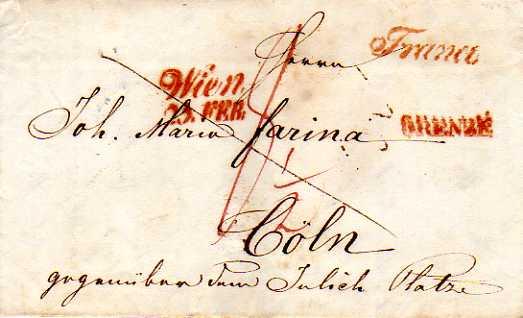 Postverhältnisse Preußen - Österreich Wien_c10