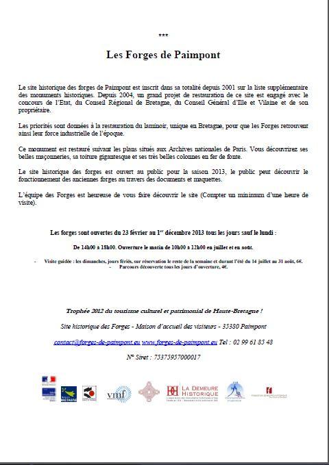 Les forges de PAIMPONT - expo Forges11