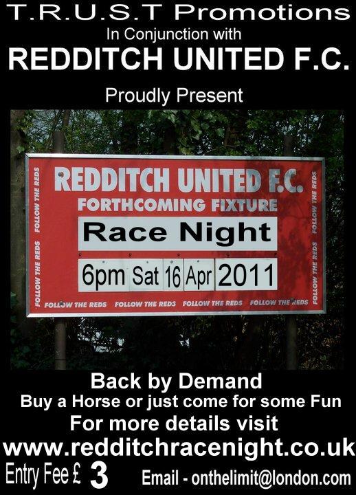 TRUST PROMOTIONS- RACE NIGHT APRIL 16th 6.00PM Raceni11