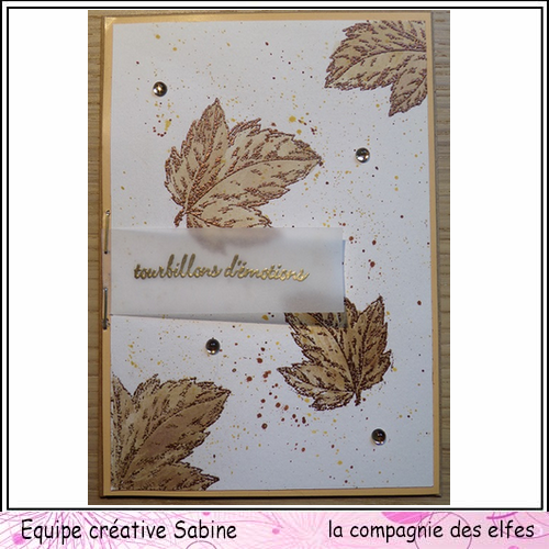 Cartes créatives d'Octobre. Sabine24