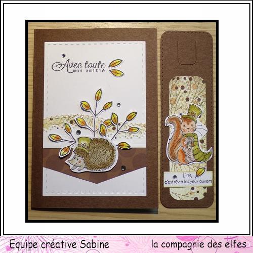 25 novembre Sabine carte avec chapeau ... Sabine43
