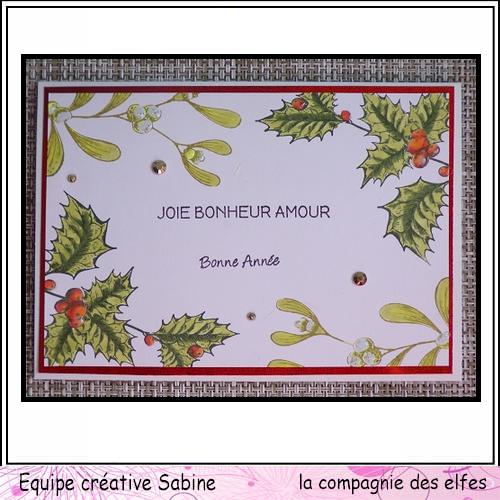 Cartes créatives Décembre 2019. Sabine46