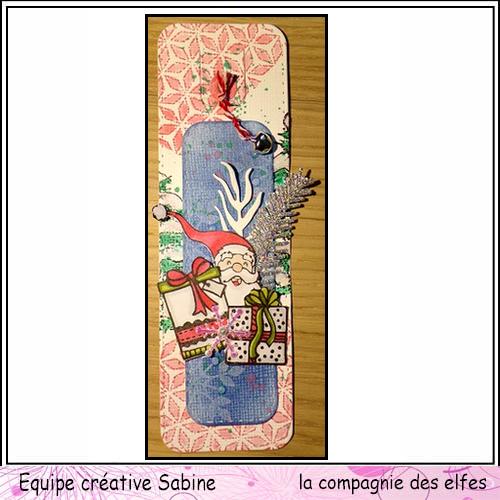 La cie propose une inspiration marque page le 2 décembre Sabine51
