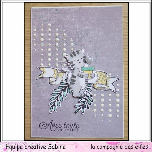 Cartes créatives d'Octobre. Sabine57
