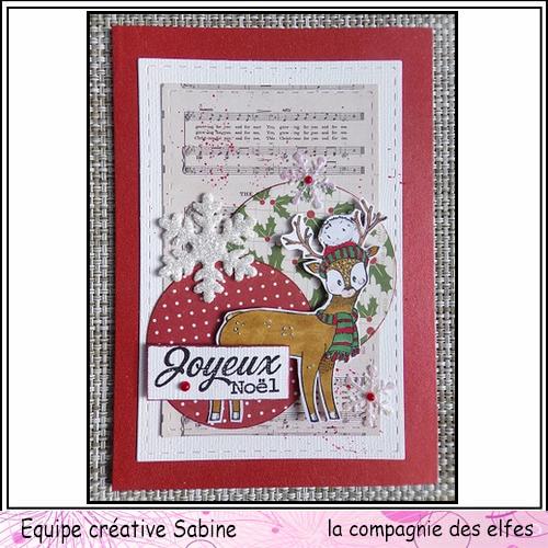 Cartes créatives de Novembre. Sabine58