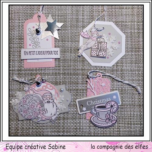 Etiquettes cadeaux pour Noël  Sabine64