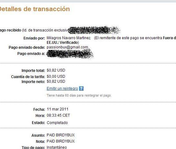 Payment proof: BirdyBux Pago_210