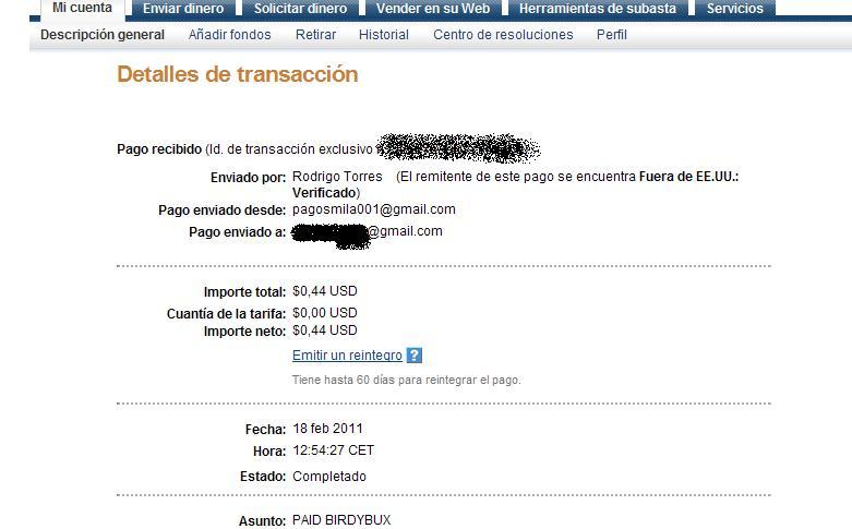 Payment proof: BirdyBux Pago_b10