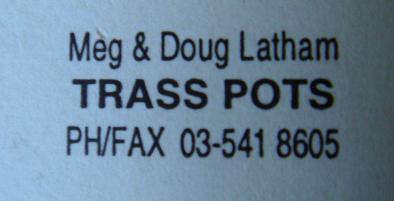 Meg & Doug Latham pottery mark ~ MAD ~ Trass Pots Dsc04113