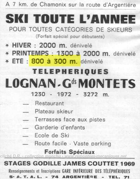 Ski d'été aux Grands Montets, document INA Gdsmon10
