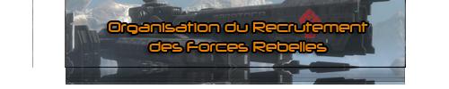 Organisation du recrutement des forces rebelles