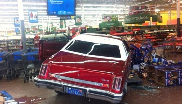 Classic car driven into Walmart in Cali Articl10