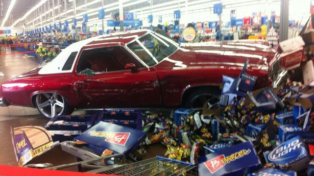 Classic car driven into Walmart in Cali Carint10