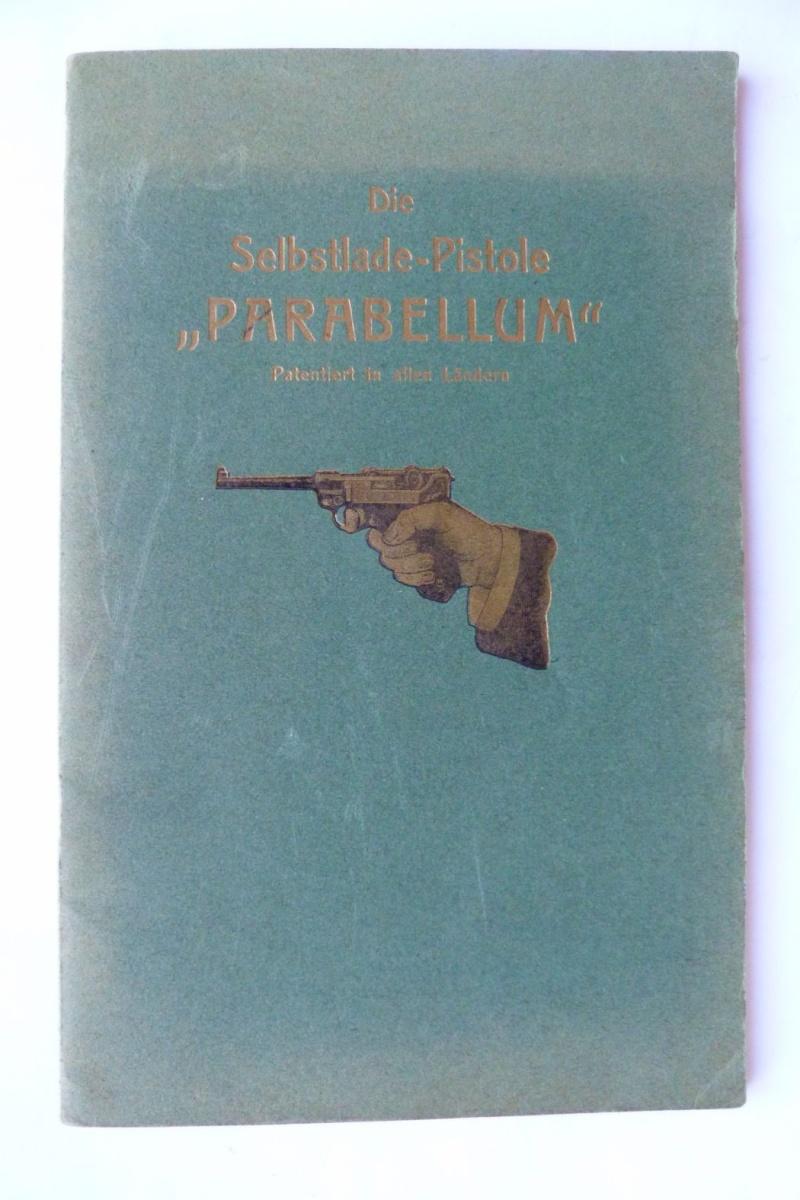 Les manuels pour le pistolet Parabellum modèle 1900, de la DWM. Manuel10