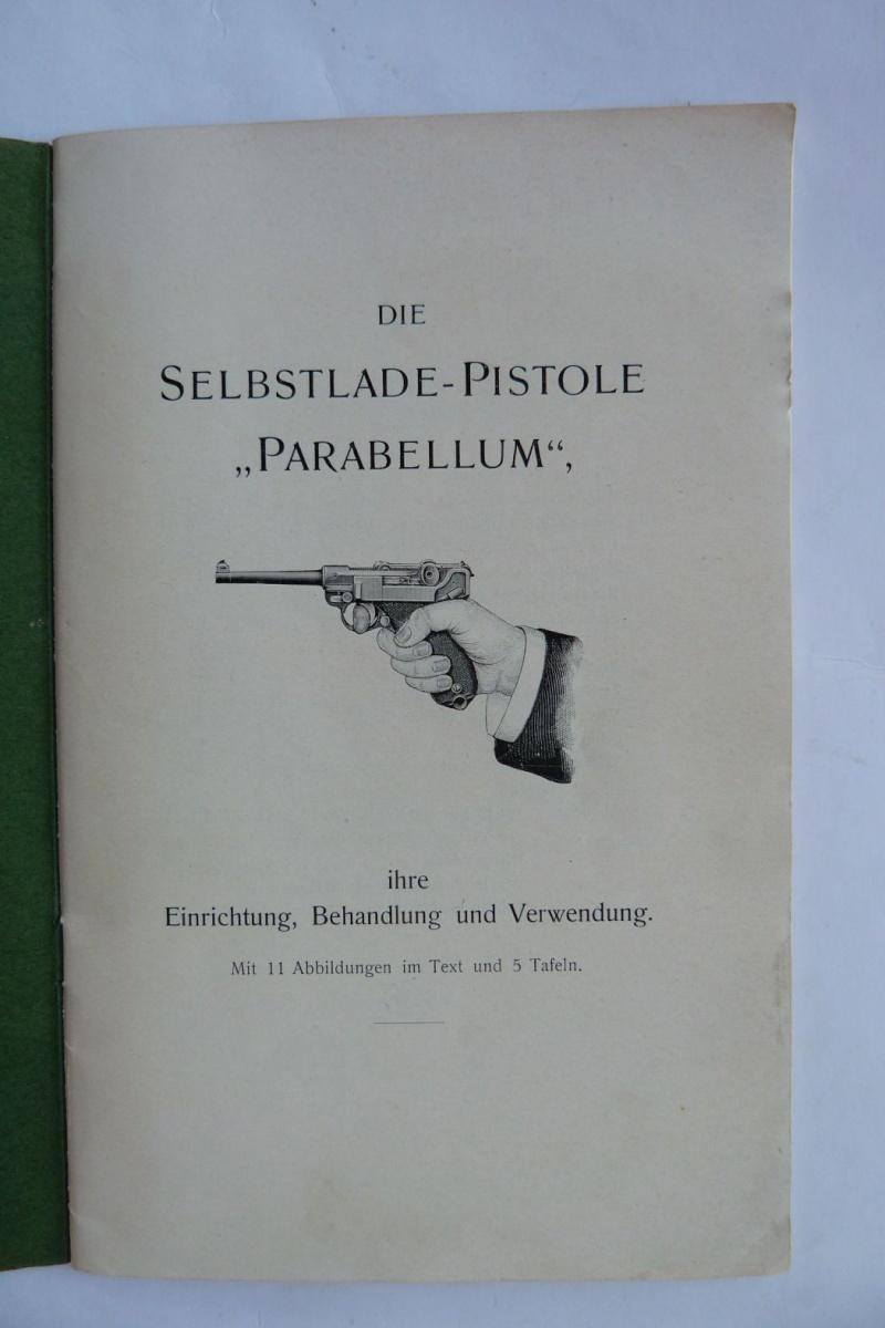 Les manuels pour le pistolet Parabellum modèle 1900, de la DWM. Manuel12