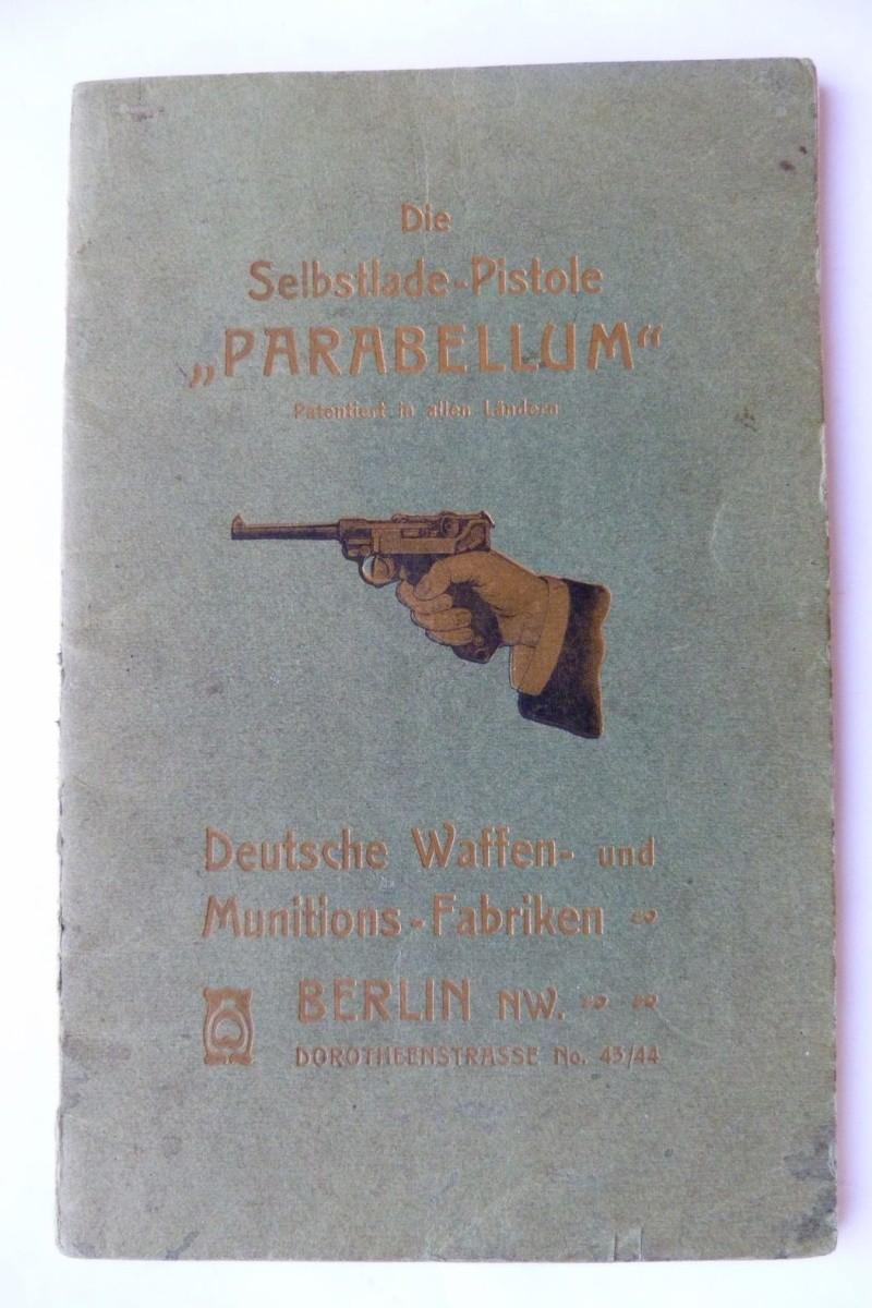 Les manuels pour le pistolet Parabellum modèle 1900, de la DWM. Manuel13