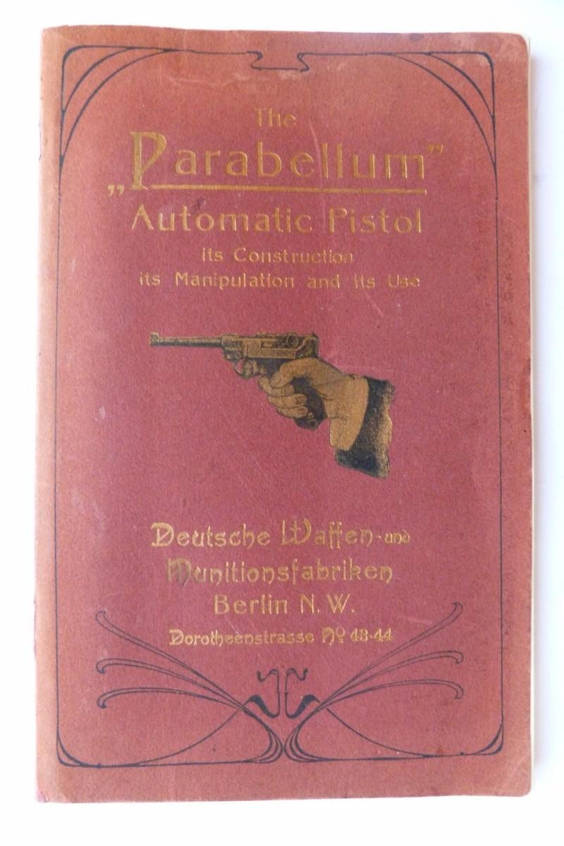 Les manuels pour le pistolet Parabellum modèle 1900, de la DWM. Manuel14