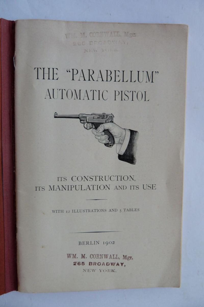 Les manuels pour le pistolet Parabellum modèle 1900, de la DWM. Manuel16