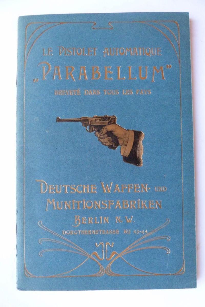 Les manuels pour le pistolet Parabellum modèle 1900, de la DWM. Manuel18
