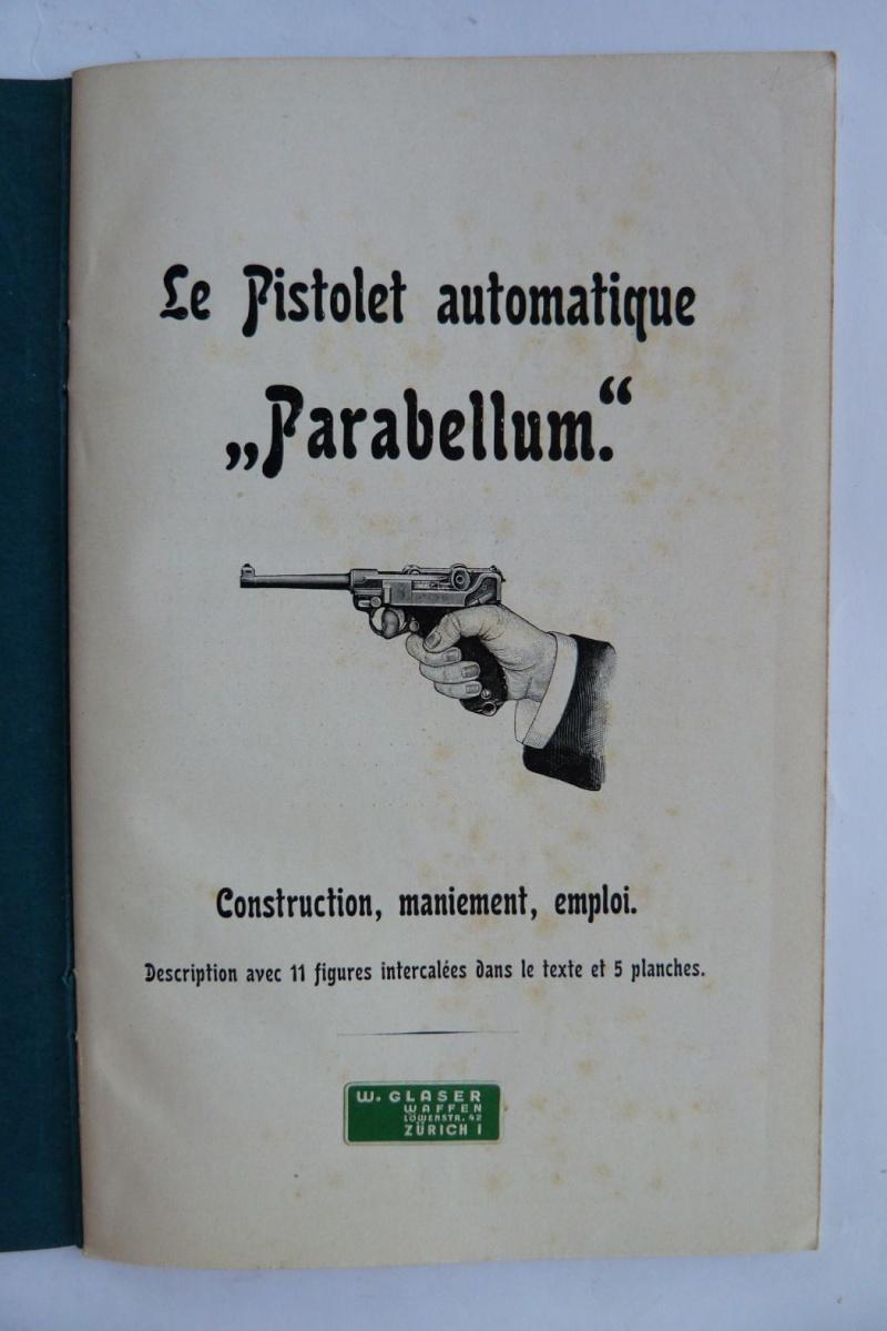 Les manuels pour le pistolet Parabellum modèle 1900, de la DWM. Manuel20