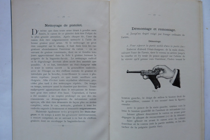 Les manuels pour le pistolet Parabellum modèle 1900, de la DWM. Manuel24