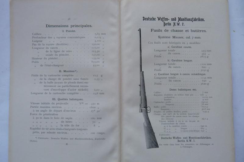 Les manuels pour le pistolet Parabellum modèle 1900, de la DWM. Manuel25