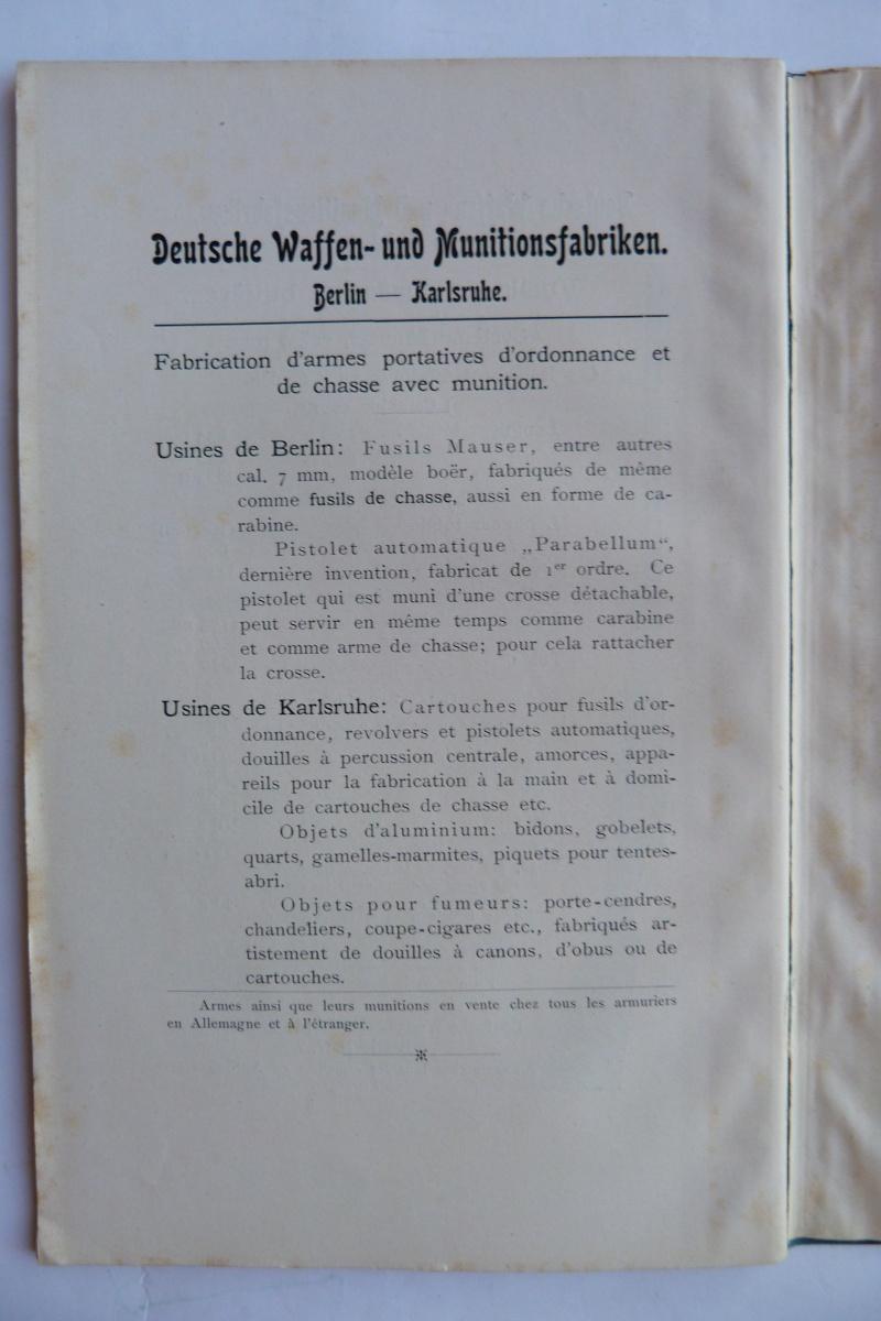 Les manuels pour le pistolet Parabellum modèle 1900, de la DWM. Manuel26