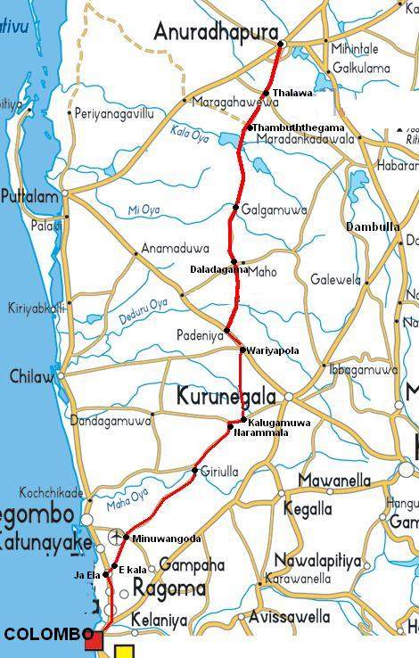 A New route to Anuradhapura from colombo Cmb-ap10
