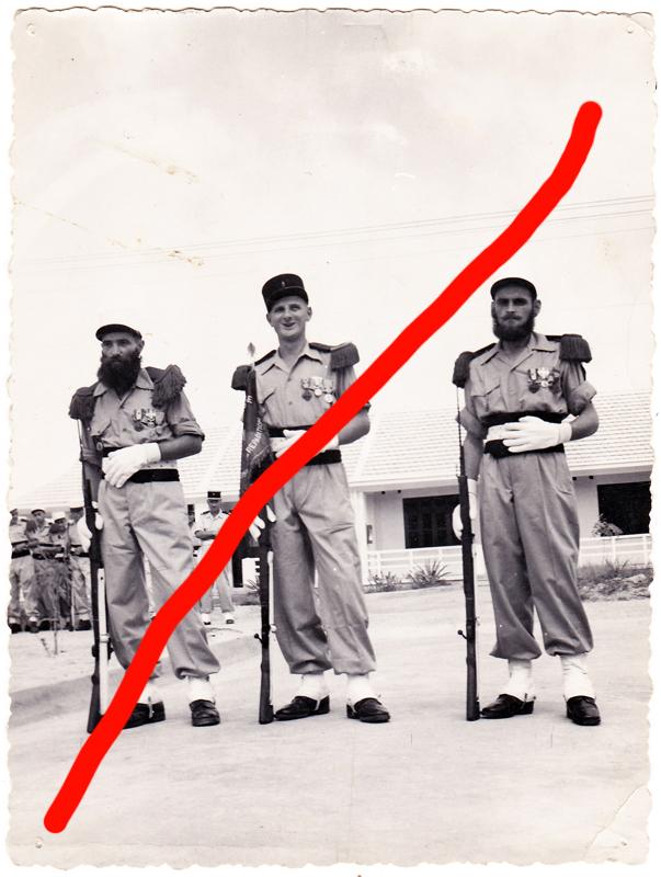Superbe photo Légionnaires en Indochine 1954 ESC - FEV 1 VENDUE Img11