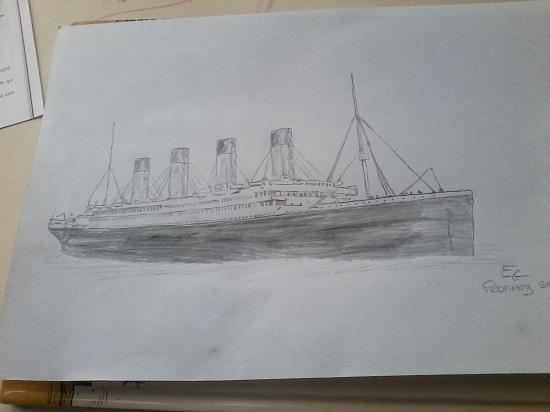 Mes dessins en rapport avec le Titanic. P27-0210