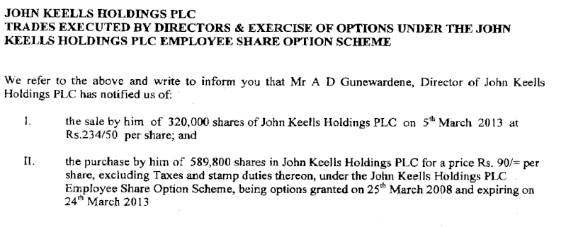 05-Mar-2013 - JKH - Dealing by Directors (Employee Share Option Scheme) Keells10