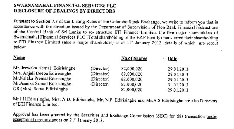 ETI Finance faces severe crisis  Sfs10