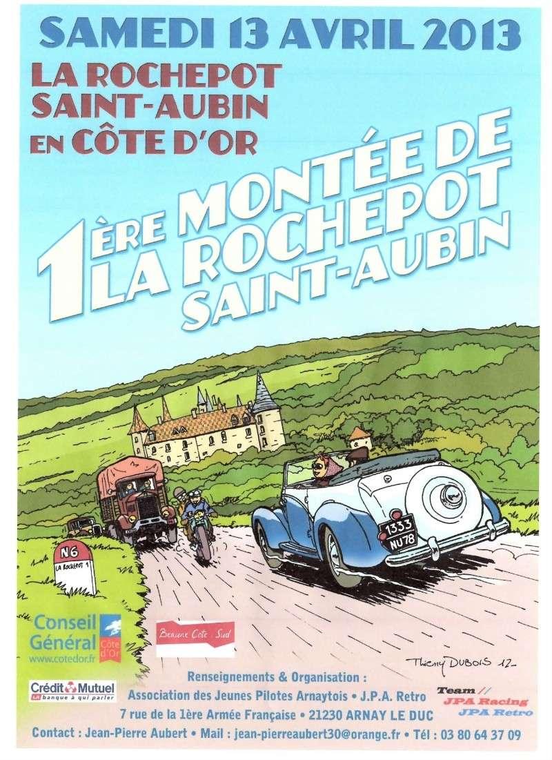 1 ERE MONTEE DE LA ROCHEPOT  SAINT AUBIN ET SALON SPORT AUTO MOTO Affich10
