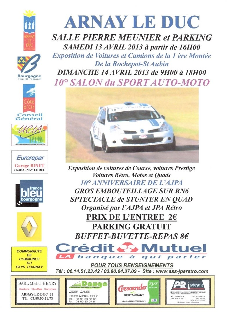 1 ERE MONTEE DE LA ROCHEPOT  SAINT AUBIN ET SALON SPORT AUTO MOTO Affich11