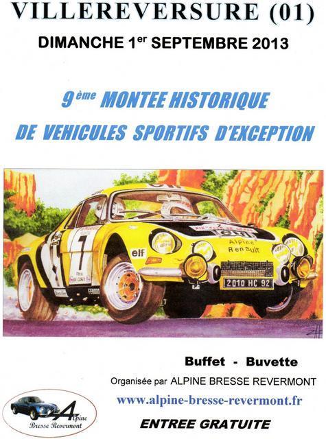 MONTEE HISTORIQUE DE VILLEREVERSURE  le 1er septembre 2013  Affich13