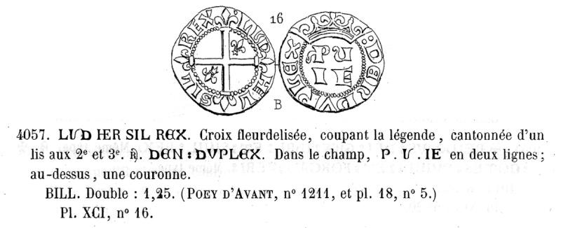 Identification croix fleurdelisée coupant la légende 2013-012