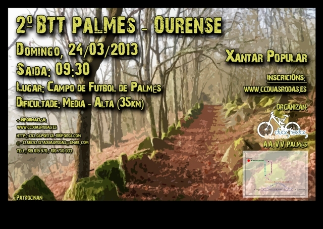<Marcha> 2º BTT PALMES OURENSE (24/03/´13) Cartel11