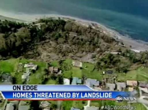 La Tierra se abre con deslizamiento de tierra en Whidbey Island, en la costa de Washington Ahora10