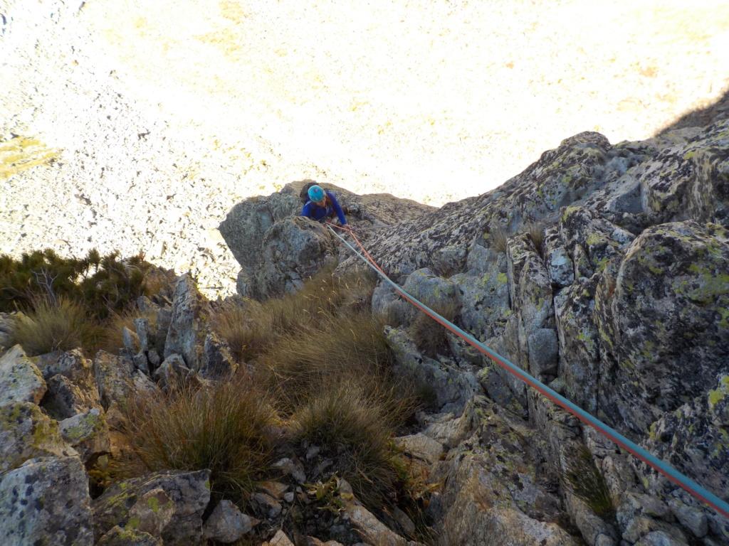 Répétition d'une nouvelle voie au Cayre des Erps 1014