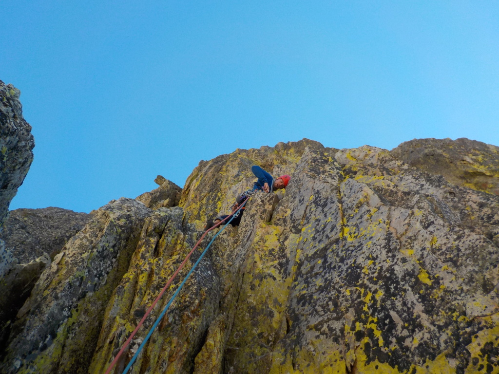 Répétition d'une nouvelle voie au Cayre des Erps 1115