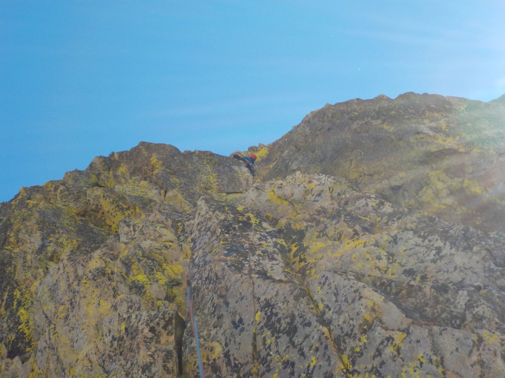 Répétition d'une nouvelle voie au Cayre des Erps 1314